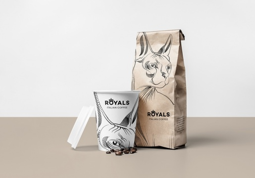 05_Coffee Mock-up_front view_cup and paper bag - Copia
